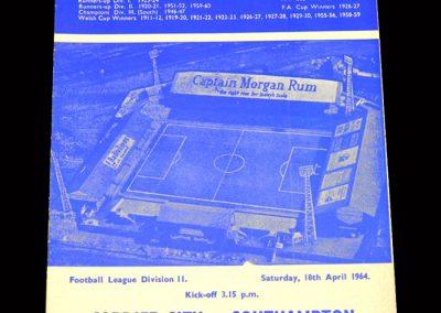 Cardiff v Southampton 18.04.1964