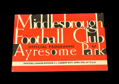Cardiff v Middlesbrough 24.04.1964