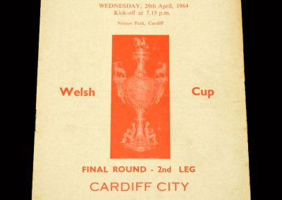 Cardiff v Bangor City 29.04.1964 - Welsh Cup Final 2nd Leg