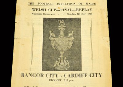Cardiff v Bangor City 04.05.1964 - Welsh Cup Final Replay