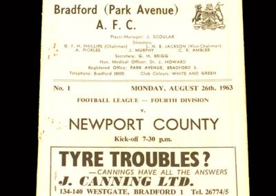 Bradford PA v Newport County 26.08.1963