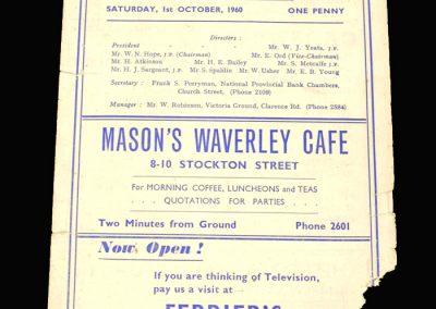 Hartlepool v Carlisle 01.10.1960