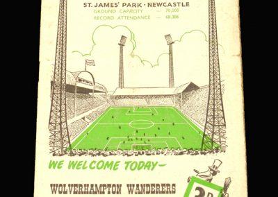 Newcastle v Wolves 15.10.1960
