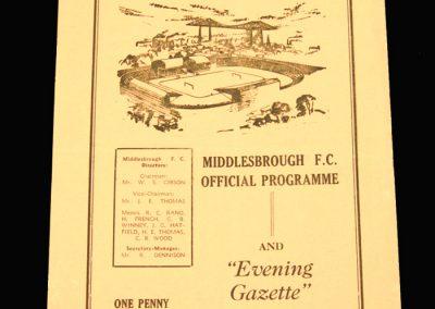 Middlesbrough Reserves v Hartlepool Reserves 05.11.1960