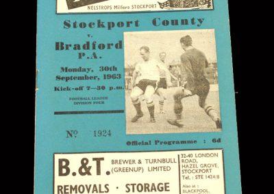 Bradford PA v Stockport 30.09.1963