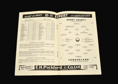 Derby v Sunderland 12.11.1960
