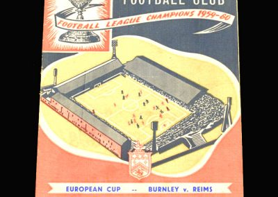 Burnley v Reims 16.11.1960 European Cup