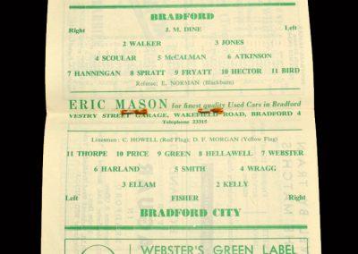 Bradford PA v Bradford City 12.10.1963