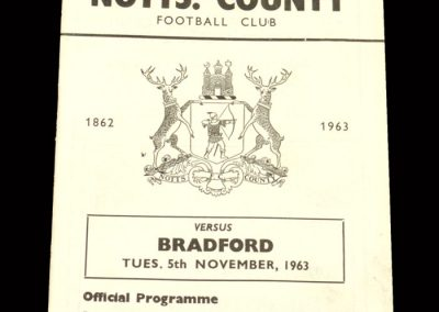 Bradford PA v Notts County 05.11.1963 - League Cup 3rd Round