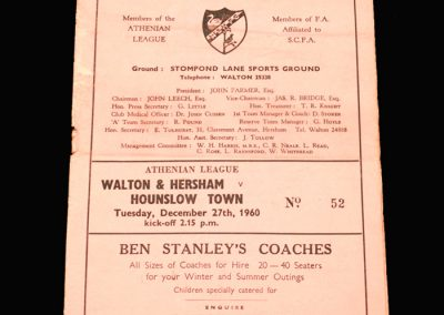 Walton v Hounslow 27.12.1960