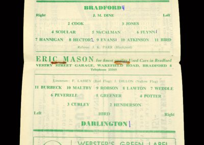 Bradford PA v Darlington 23.11.1963