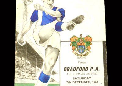 Bradford PA v Oldham 07.12.1963 - FA Cup 2nd Round