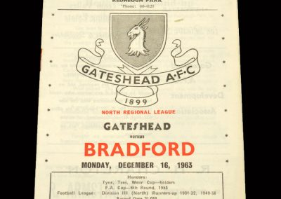 Bradford PA Reserves v Gateshead Reserves 16.12.1963