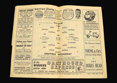 Fulham v Sheff Wed 21.01.1961