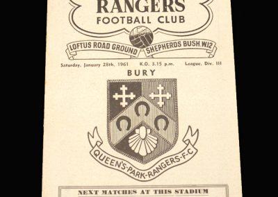 QPR v Bury 28.01.1961