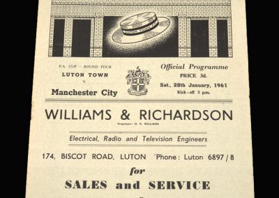 Luton v Man City 28.01.1961 FA Cup 4th Round (abandoned)