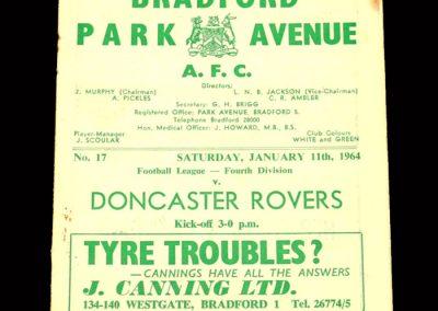 Bradford PA v Doncaster 11.01.1964