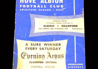 Bradford PA v Brighton 18.01.1964
