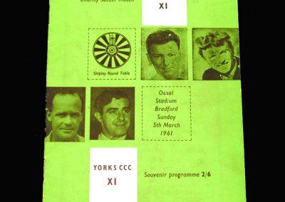 Showbiz 11 v Yorkshire 11 05.03.1961 (Sean Connery playing)