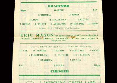 Bradford PA v Chester 01.02.1964
