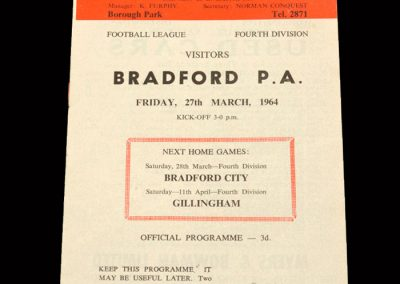 Bradford PA v Workington 27.03.1964
