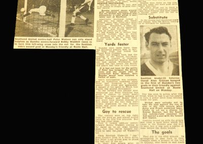 Southend v Dundee 17.04.1961