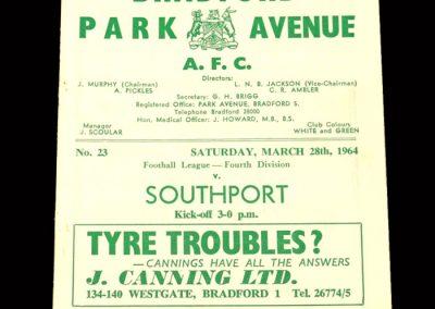 Bradford PA v Southport 28.03.1964