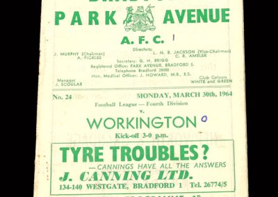 Bradford PA v Workington 30.03.1964