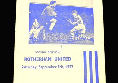 Huddersfield v Rotherham 07.09.1957