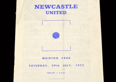 St Johnstone v Newcastle 29.07.1972 - McDonald Claims the Goal Record