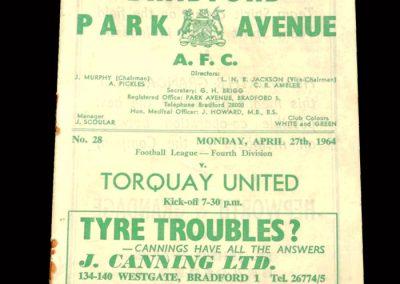 Bradford PA v Torquay 27.04.1964