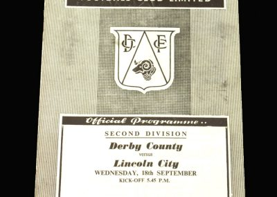 Derby v Lincoln 18.09.1957