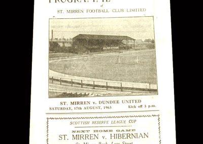 St Mirren v Dundee Utd 17.08.1963 - League Cup