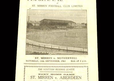 St Mirren v Motherwell 14.09.1963
