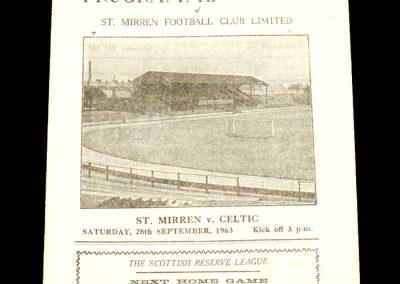 St Mirren v Celtic 28.09.1963
