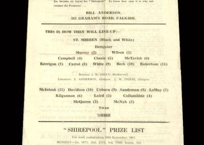 St Mirren v East Stirlingshire 05.10.1963