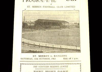 St Mirren v Rangers 12.10.1963