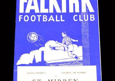 St Mirren v Falkirk 19.10.1963