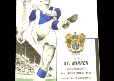 St Mirren v Oldham 06.11.1963 (Friendly)