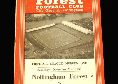 Notts Forest v Sunderland 07.12.1957