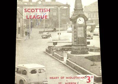 St Mirren v Hearts 09.11.1963