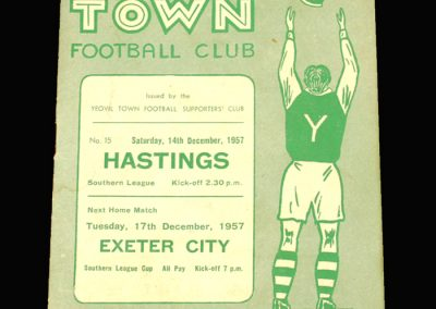 Yeovil v Hastings 14.12.1957