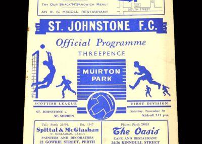 St Mirren v St Johnstone 30.11.1963