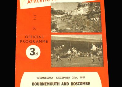 Bournemouth v Reading 25.12.1957