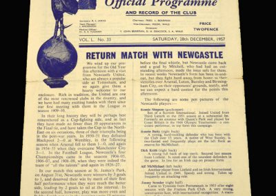 Spurs v Newcastle 28.12.1957