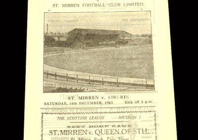 St Mirren v Airdrie 14.12.1963