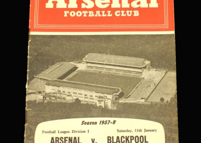 Arsenal v Blackpool 11.01.1958