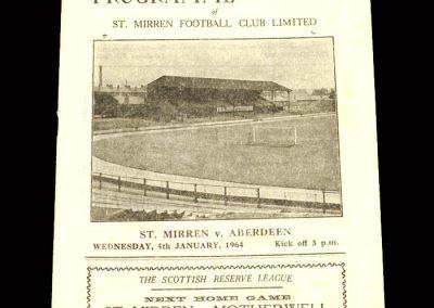 St Mirren v Aberdeen 04.01.1964