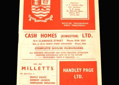 Kingstonian v St Albans 01.02.1958
