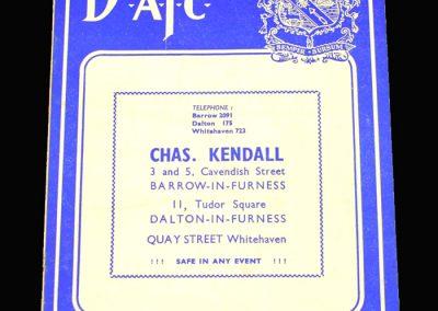 Barrow v Bury 01.02.1958